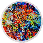 Blossoming Meadow Round Beach Towel
