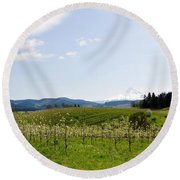 Blossoms In Spring Round Beach Towel
