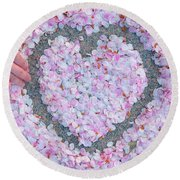 Blossoms Of Love - Cherry Blossoms 2013 - 071 Round Beach Towel