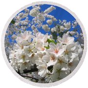 Blossoms Of Spring Round Beach Towel