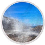 Blow Hole Blow Out Round Beach Towel