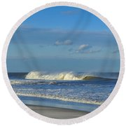 Blowin' In The Wind Seaside Heights New Jersey Round Beach Towel