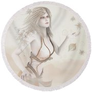 Blowing In The Wind Round Beach Towel
