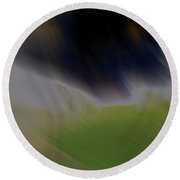 Blown Away Abstract Round Beach Towel