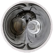 Blown Out Filament Round Beach Towel