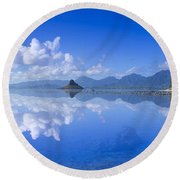 Blue Mokolii Round Beach Towel