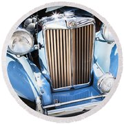 Blue 1953 Mg Round Beach Towel