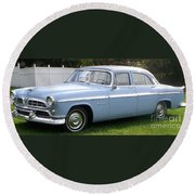 Blue 1955-56 Chrysler Round Beach Towel