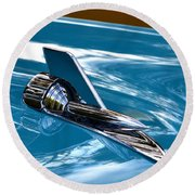 Blue 57 Chevy Bel Air Round Beach Towel