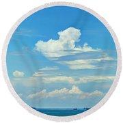 Blue A Sailors Delight Round Beach Towel