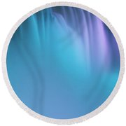 Blue And Orchid Round Beach Towel