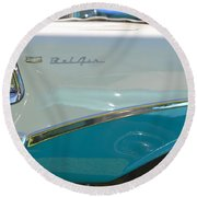 Blue And White Bel Air Convertable Round Beach Towel