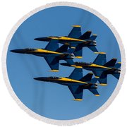 Blue Angel Diamond Round Beach Towel