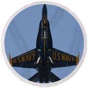 Blue Angel F/a-18 Round Beach Towel