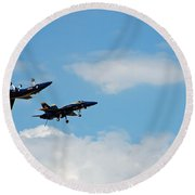 Blue Angels 1 Round Beach Towel