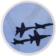 Blue Angels 10 Round Beach Towel