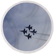 Blue Angels 2 Round Beach Towel