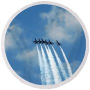 Blue Angels 3 Round Beach Towel