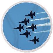 Blue Angels 4 Round Beach Towel