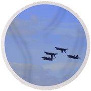 Blue Angels 5 Round Beach Towel