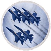 Blue Angels Fa 18 V19 Round Beach Towel