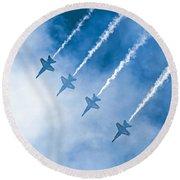 Blue Angels Round Beach Towel