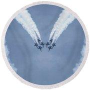 Blue Angels Love Round Beach Towel