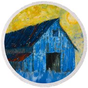 Blue Barn Number One Round Beach Towel