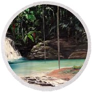 Blue Basin Round Beach Towel