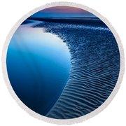 Blue Beach  Round Beach Towel