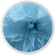 Blue Beauty - Dahlia Round Beach Towel