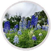 Blue Bonnet Carpet V9 Round Beach Towel
