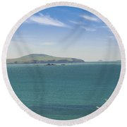 Blue Breeze Round Beach Towel