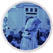 Blue Bride Round Beach Towel