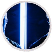 Blue Brothers Round Beach Towel