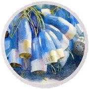 Blue Bundle Round Beach Towel