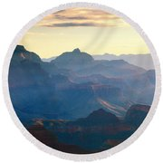 Blue Canyon Round Beach Towel