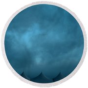 Blue Carnival Round Beach Towel