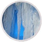 Blue Cave Round Beach Towel