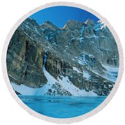 Blue Chasm Round Beach Towel