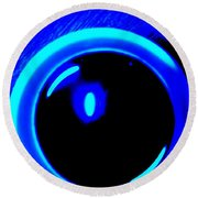 Blue Circle Round Beach Towel