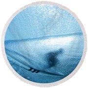 Blue Cocoon Round Beach Towel by Sean Davey
