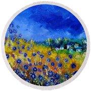 Blue Cornflowers 774180 Round Beach Towel