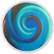Cosmic Swirl By Reina Cottier Round Beach Towel