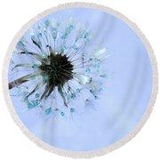 Blue Dandelion Round Beach Towel