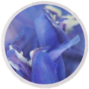 Blue Delight Round Beach Towel