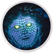 Blue Demon Round Beach Towel