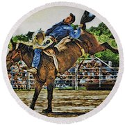 Blue Denim Rider Round Beach Towel
