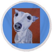 Blue Dog Round Beach Towel