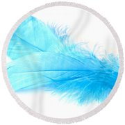 Blue Doubles Round Beach Towel